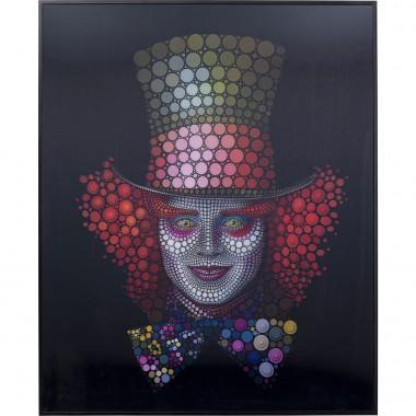 Quadro Moldura 3D Crazy Hatter 70x57cm