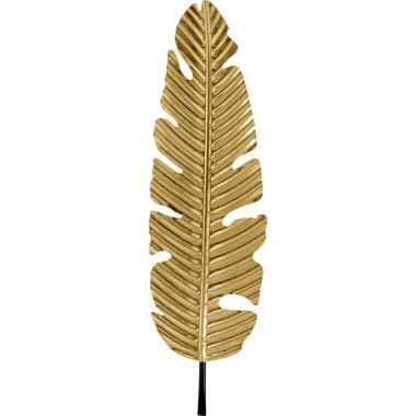 Decoração de Parede Leaf Dourada 92cm