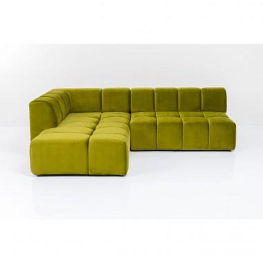 Sofá de canto Belami esquerdo Verde