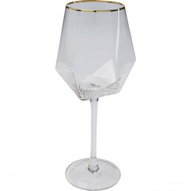 Verre à vin Diamond doré Rim