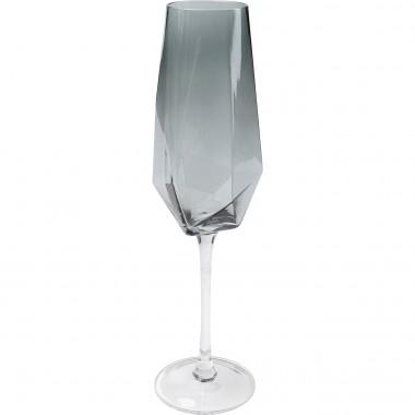 Flûte à champagne Diamond Smoke