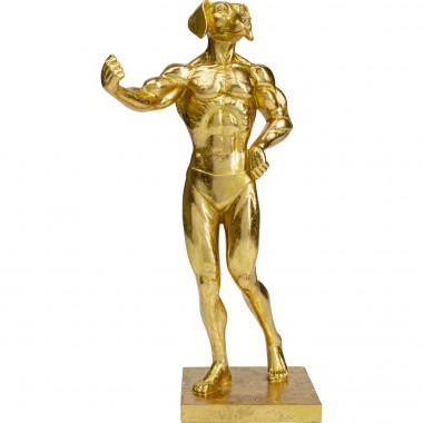 Peça Decorativa Muscle Dog Dourada-52228 (7)