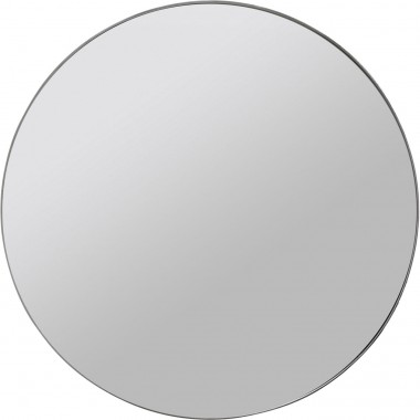 Miroir Curvy look chrome Ø100