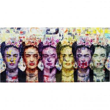 Quadro De Vidro Frida Love 160x80cm