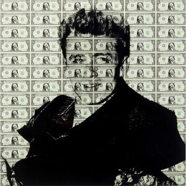 Quadro de Vidro Man of Dollar 100x100cm