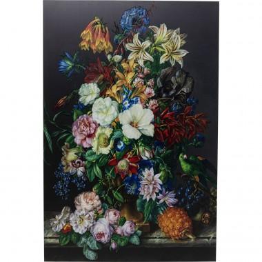 Quadro de Vidro Flower Bouquet 100x150cm