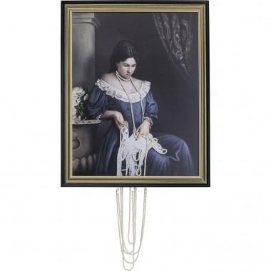 Pintura a Óleo c/Moldura Lady Pearls 100x80cm-52636 (6)