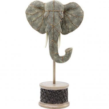 Objeto Decorativo Elephant Head Pearls 49cm