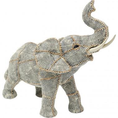 Objeto Decorativo Walking Elephant Pearls Pequeno