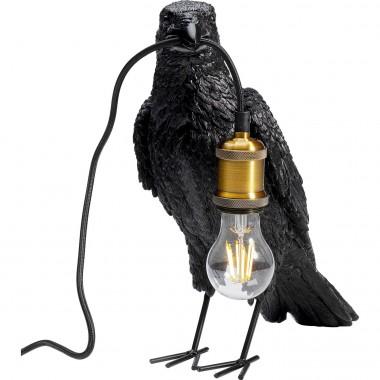 Lampe à poser Animal Crow noir mat