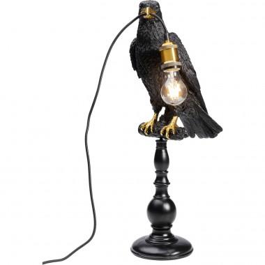 Candeeiro de Mesa Sitting Crow Preto Mate