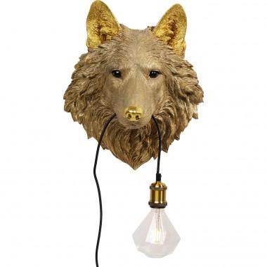 Candeeiro de Parede Wolf Head