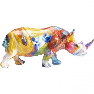 Peça Decorativa Colored Rhino
