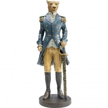Peça Decorativa Sir Leopard Standing
