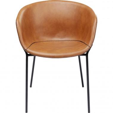 Cadeira com braços Raja Castanho