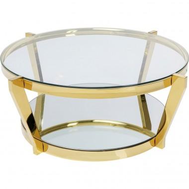 Mesa de Centro Monocolo Dourado Ø90cm