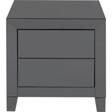 Petite commode Luxury Push 2 tiroirs gris