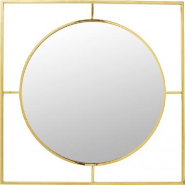 Espelho Stanford Moldura Dourado Ø90cm