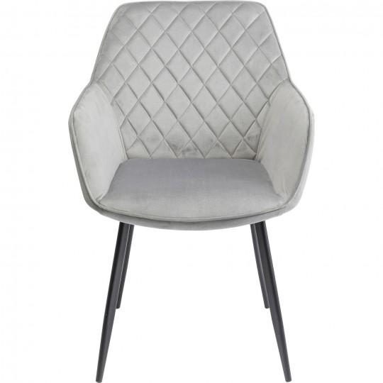 Cadeira com braços Kayla Cinzento