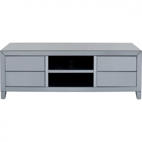 Mesa TV Luxury Push Cinzento 140x50cm