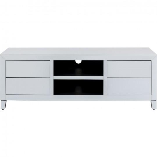 Mesa TV Luxury Push Branco 140x50cm