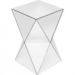 Mesa de Apoio Luxury Triangle Branco 32x32cm