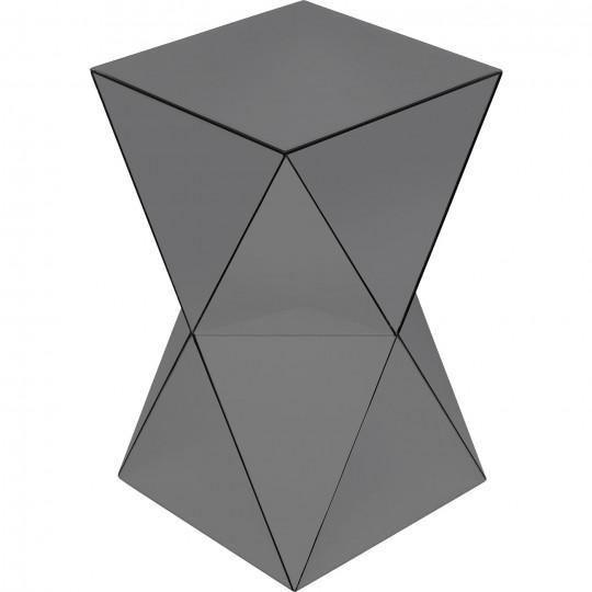 Mesa de Apoio Luxury Triangle Cinzento 32x32cm