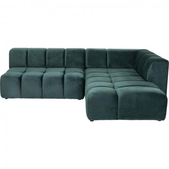 Sofá de Canto Belami Veludo Verde escuro Lado Direito 265cm
