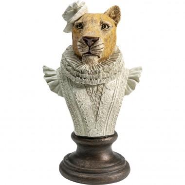 Peça decorativa Sir Leopard branco
