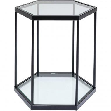 Mesa de apoio Comb preta 55cm