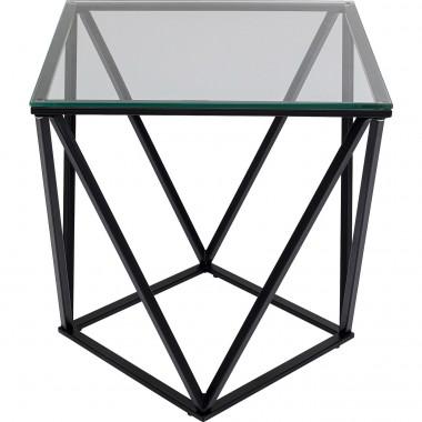 Mesa de apoio Cristallo Black 50x50cm