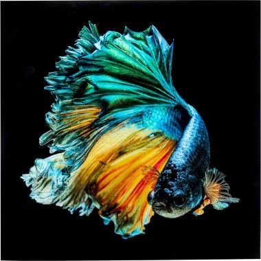 Quadro de vidro Aqua Queen 100x100cm