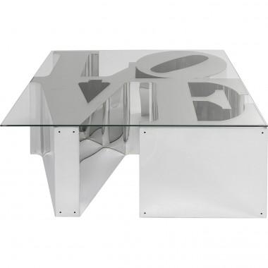Mesa de centro LOVE em aço inoxidável 115x115 cm