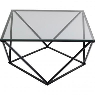 Mesa de centro Cristallo Black 80x80cm