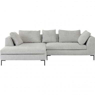 Corner Sofa Gianni Cord Grey Left