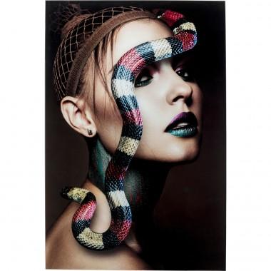 Quadro de vidro Snake Girl 80x120cm