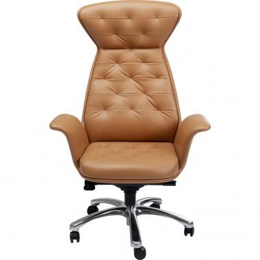 Chaise de bureau pivotante Brady argenté