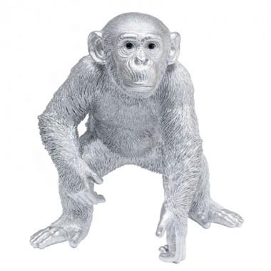 Peça decorativa Playing Ape Silver 50cm
