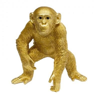 Peça decorativa Playing Ape Gold 50cm