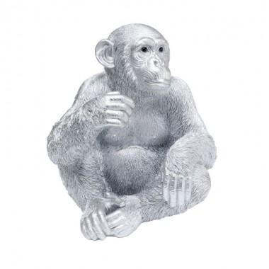 Peça decorativa Baby Ape Silver 53cm