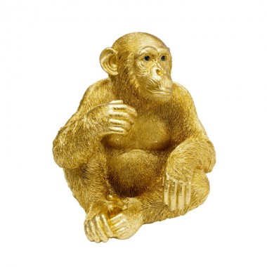 Peça decorativa Baby Ape Gold 53cm