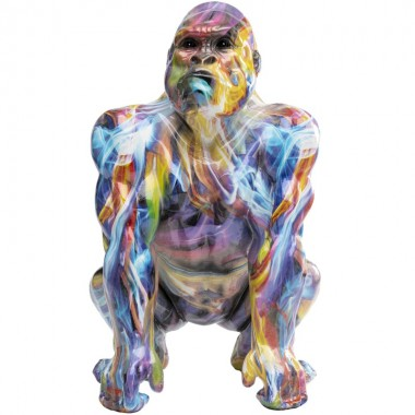 Peça decorativa Watching Gorilla Colorful