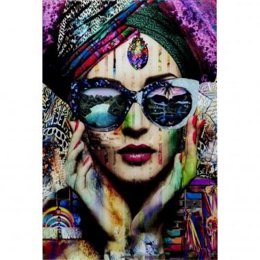 Quadro de vidro Colorful Artist 80x120cm