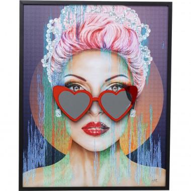 Quadro Heart Glasses 80x100cm