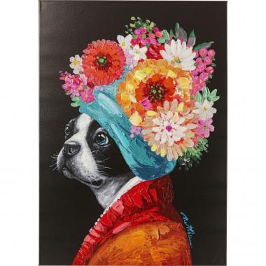 Quadro Flowery Dog 70x100cm