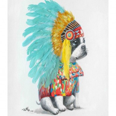 Quadro Headdress Dog 80x80cm
