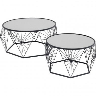 Table basse Cobweb noir (2/set)
