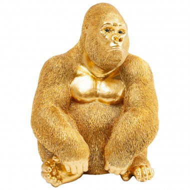 Peça Decorativa Monkey Gorilla Side Medium Gold