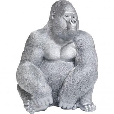 Peça Decorativa Gorila XL Prateado