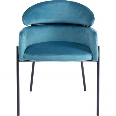 Cadeira com apoio de braços Alexia Velvet Azul
